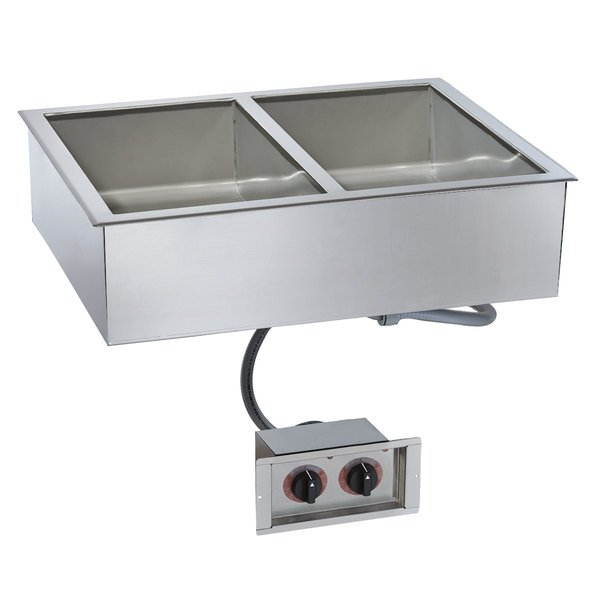 """Alto-Shaam 200-HWI/D4 2 Pan Drop-In Hot Food Well for 4"""" Deep Pans - 120V Main Image 1"""