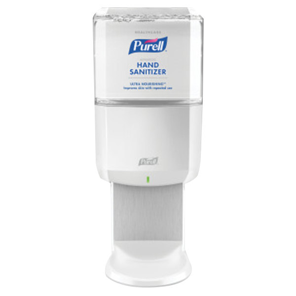 Purell® 6456-1W Advanced Healthcare ES6 1200 mL White Automatic Hand Sanitizer Dispenser with Ultra Nourishing Foaming Hand Sanitizer Main Image 1