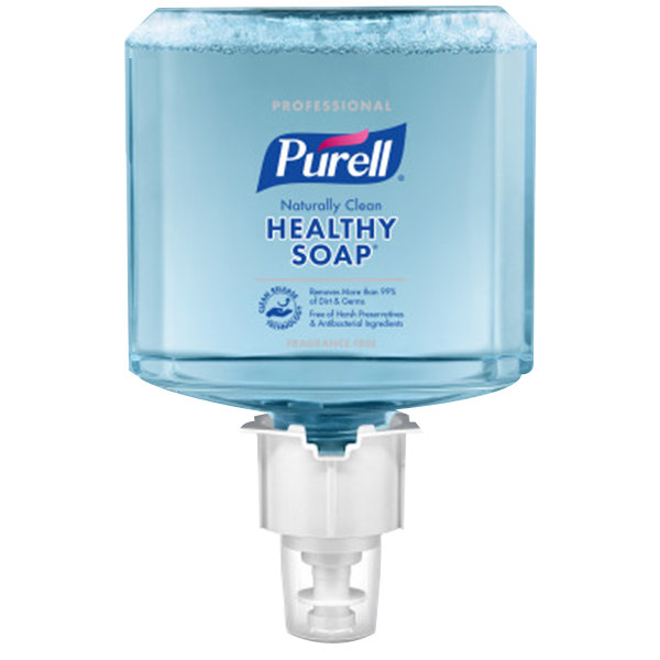 Purell® 6470-02 CRT Healthy Soap® Professional ES6 1200 mL Naturally Clean Fragrance Free Foaming Hand Soap - 2/Case