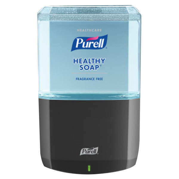 Purell® 6472-1G Healthy Soap® Healthcare ES6 1200 mL Graphite Automatic Hand Soap Dispenser with Gentle & Free Foaming Hand Soap