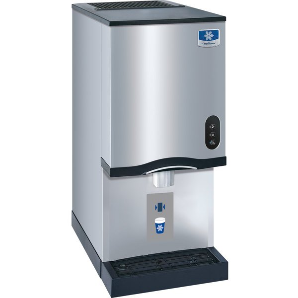 Manitowoc CNF0201A NEO 16 1/4 inch Air Cooled Countertop Nugget Ice Maker / Dispenser - 10 lb. Bin with Sensor Dispensing - 115V