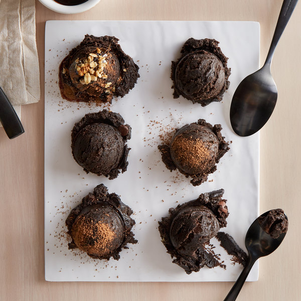 David's Cookies 8 lb. Gourmet Triple Chocolate Brownie With HERSHEY'S® Mini Kisses Edible Cookie Dough - 2/Case Main Image 3