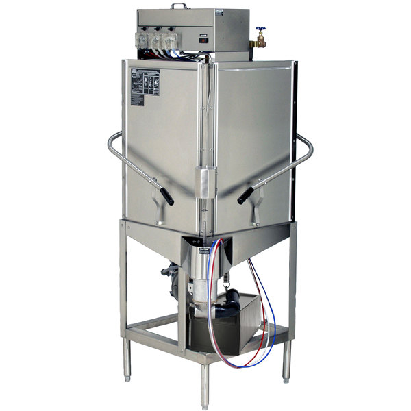 CMA Dishmachines S-C Tall Single Rack Low Temperature, Chemical Sanitizing Corner Dishwasher - 115V