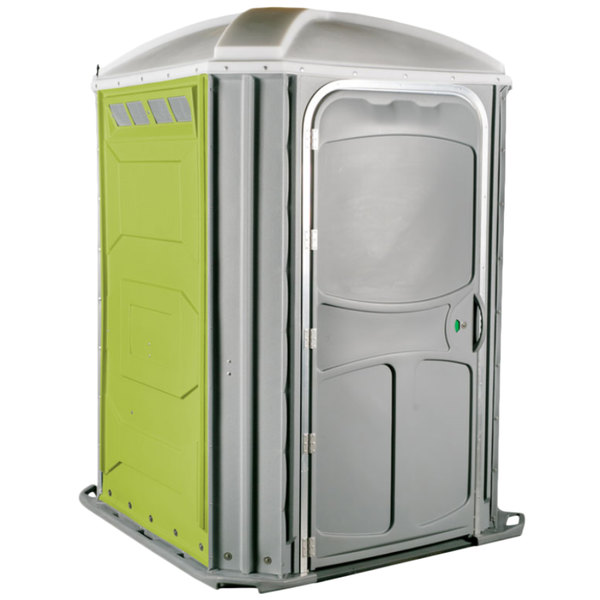 PolyJohn PH03-1004 Comfort XL Lime Green Wheelchair Accessible Portable Restroom - Assembled