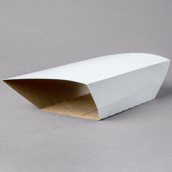 Clay Coated Kraft Food Tray Sleeves for 5 lb. Food Trays - 50/Pack Main Image 1