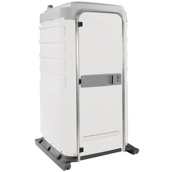 PolyJohn FS3-1008 Fleet White Premium Portable Restroom - Assembled