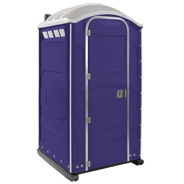 PolyJohn PJN3-1010 Purple Portable Restroom with Translucent Top - Assembled