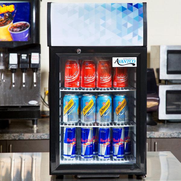 Avantco SC-40 Black Countertop Display Refrigerator with Swing Door Main Image 5