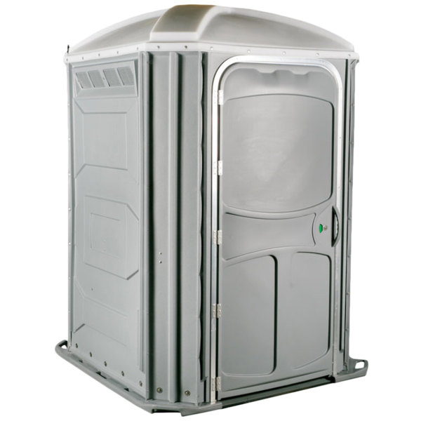 PolyJohn PH03-1007 Comfort XL Light Gray Wheelchair Accessible Portable Restroom - Assembled