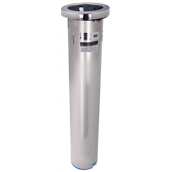San Jamar C6500C Stainless Steel Counter-Mount Plastic, Paper, or Foam Cup Dispenser - 32 to 46 oz.