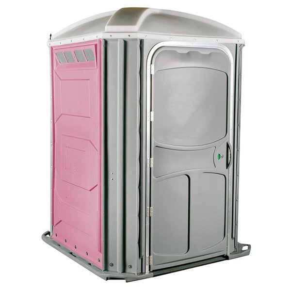 PolyJohn PH03-1012 Comfort XL Pink Wheelchair Accessible Portable Restroom - Assembled