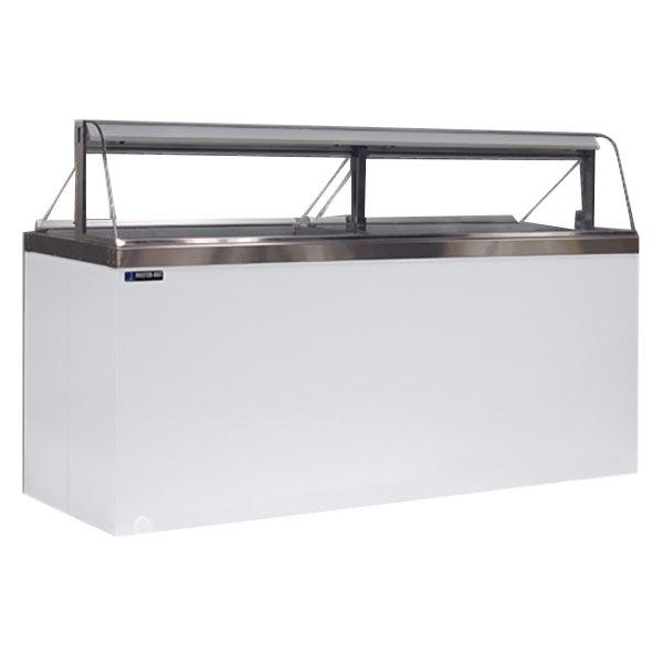 "Master-Bilt DD-88CG 91"" Curved Glass Ice Cream Dipping Cabinet"
