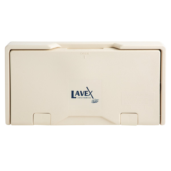 Lavex Janitorial Cream Horizontal Baby Changing Station