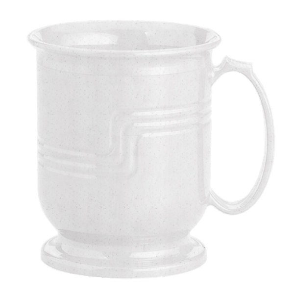 Cambro MDSM8480 Shoreline Collection Speckled Gray 8 oz. Insulated Mug - 12/Pack Main Image 1