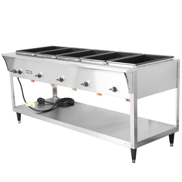 Vollrath 38215 ServeWell SL Electric Five Pan Hot Food Table 120V - Sealed Well Main Image 1