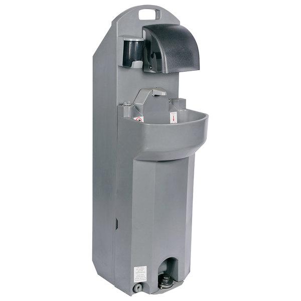 PolyJohn PSW2-1000 HandStand2 Grey 17 Gallon Deep Bowl Mobile Sink