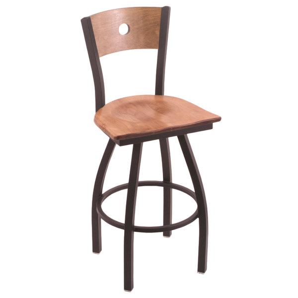 Excellent Holland Bar Stool X83030Bwmedmplbmedmpl Big Tall Bar Height Black Wrinkle Steel Swivel Barstool With Medium Maple Seat And Medium Maple Back Uwap Interior Chair Design Uwaporg