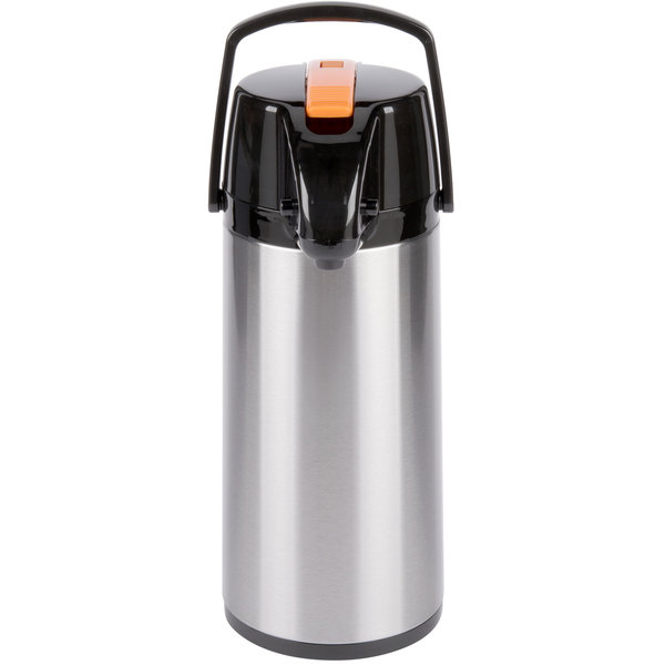 Choice 2.2 Liter Glass Lined Stainless Steel Decaf Airpot with Lever