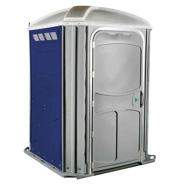 PolyJohn PH03-1016 Comfort XL Dark Blue Wheelchair Accessible Portable Restroom - Assembled