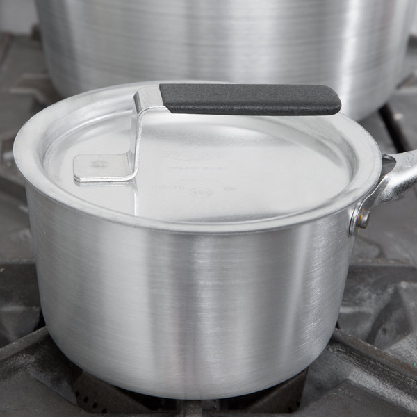 "Vollrath 67311 Wear-Ever Flat Aluminum Pot / Pan Cover with Torogard Handle 6 5/8"""