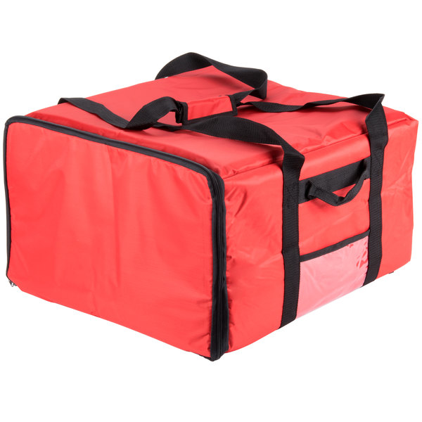 20 inch x 20 inch x 13 inch Insulated Pizza Delivery Bag - Nylon