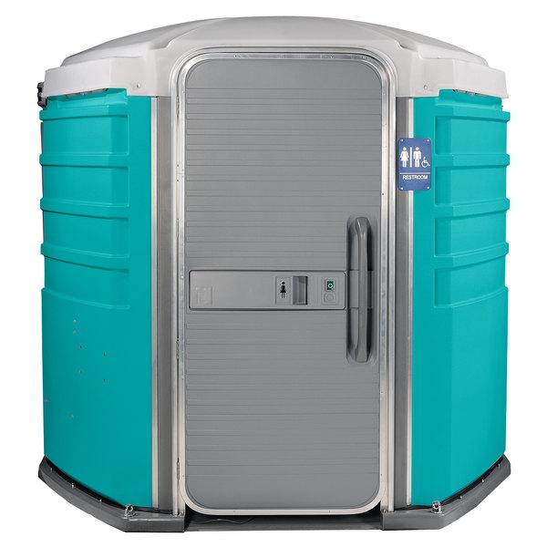 PolyJohn SA1-1000 We'll Care III Aqua Wheelchair Accessible Portable Restroom - Assembled