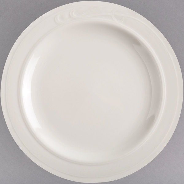 "Homer Laughlin 6051000 7 1/4"" Ivory (American White) China Plate - 36/Case"