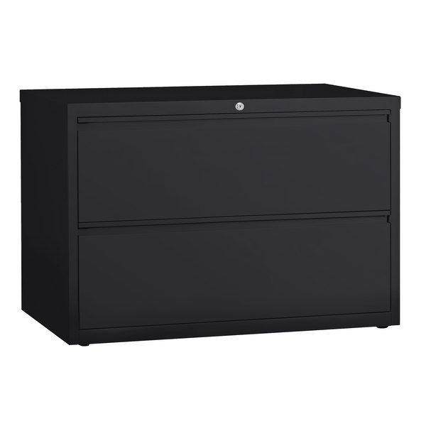 Alera Alelf4229bl Black Two Drawer Metal Lateral File Cabinet 42 X 19 1 4 X 28 3 8