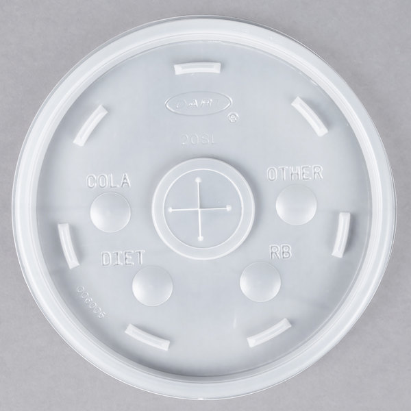 Dart Conex 20SL Translucent Lid with Straw Slot - 1000/Case
