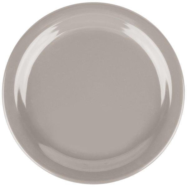 """Carlisle 4385431 Truffle Dayton 7 1/4"""" Melamine Salad Plate - 48/Case"""