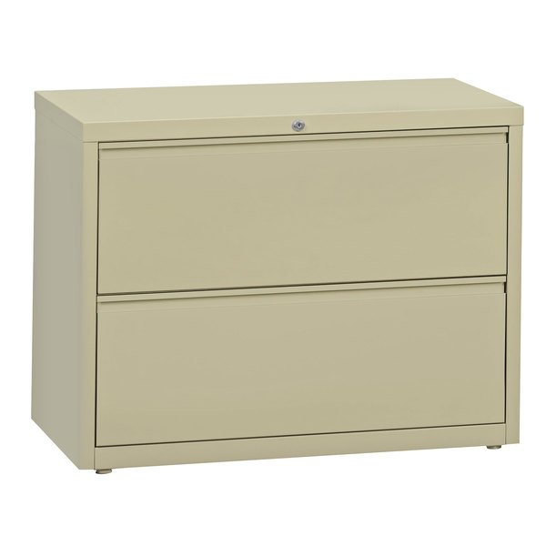 Hirsh Industries 17450 Putty Two-Drawer Lateral File Cabinet - 36 inch x 18 5/8 inch x 28 inch