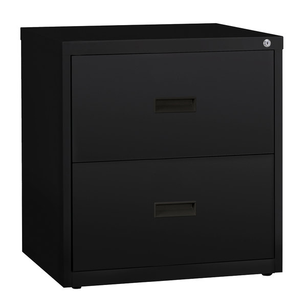 hirsh industries 14955 black two drawer lateral file cabinet 30 x rh webstaurantstore com 30 lateral file cabinet 2 drawer 30 inch lateral file cabinet