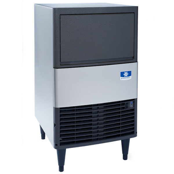 Manitowoc UDE0080A NEO 19 11/16 inch Air Cooled Undercounter Dice Cube Ice Machine with 31 lb. Bin - 115V, 102 lb.