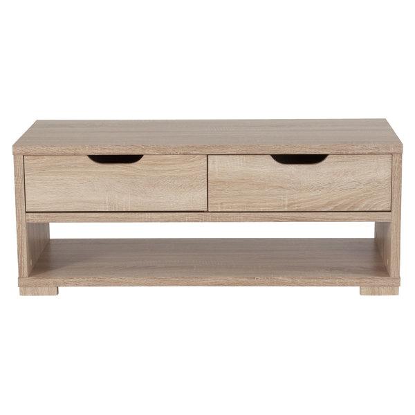 Flash Furniture Ev Ct 3710 00 Gg Howell Sonoma Oak Woodgrain Coffee Table With 2 Drawers