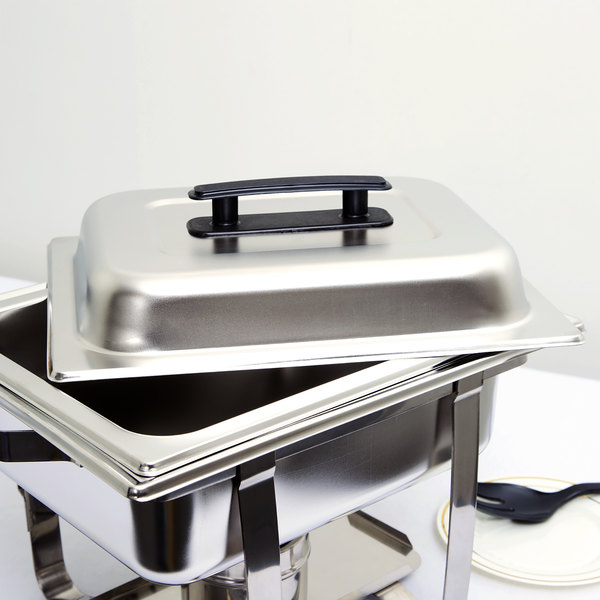 Choice Replacement Half Size Stainless Steel Chafer / Pan Cover for Choice Economy 4 Qt. Chafer