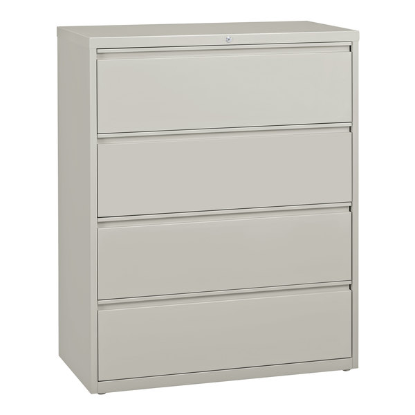 Hirsh Industries 17461 Gray Four-Drawer Lateral File Cabinet - 42 inch x 18 5/8 inch x 52 1/2 inch