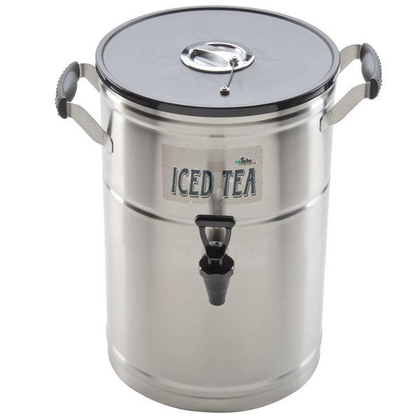 3 Gallon Satin-Finish Stainless Steel Iced Tea Dispenser Main Image 1