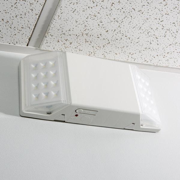 Lavex 2 Head Fixed Optics Led Emergency Light With Ni Cad Battery Backup Watt Unit