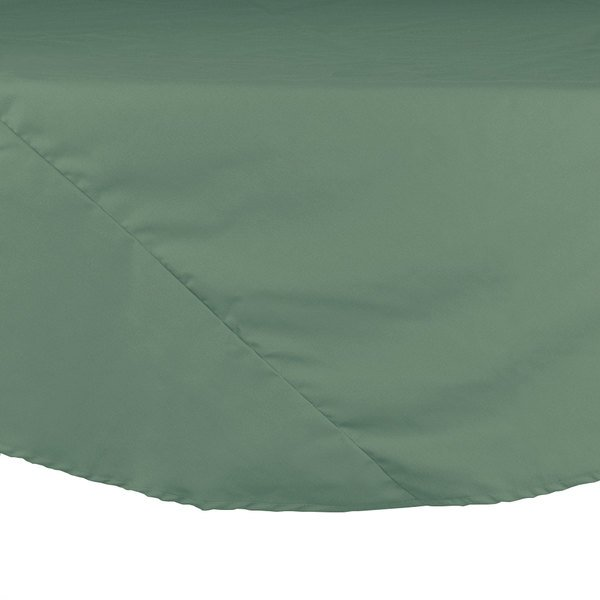 "120"" Seafoam Green Round Hemmed Polyspun Cloth Table Cover"