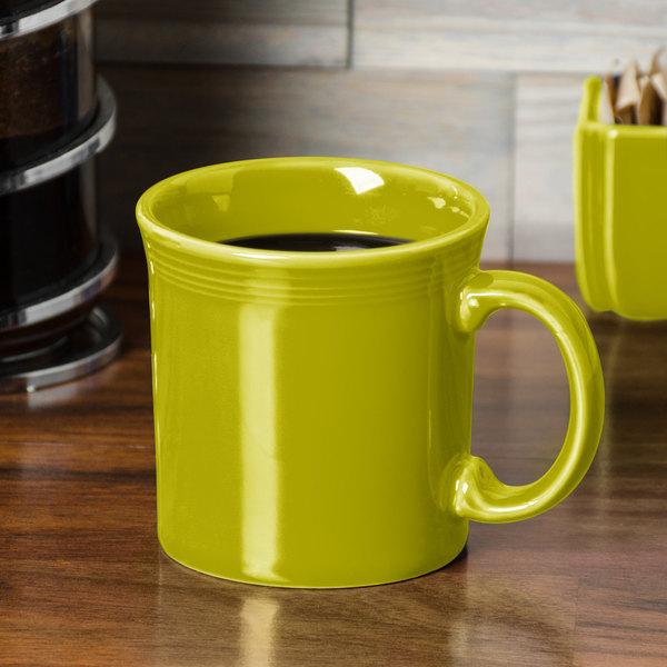 Homer Laughlin 570332 Fiesta Lemongrass 12 oz. China Java Mug - 12/Case