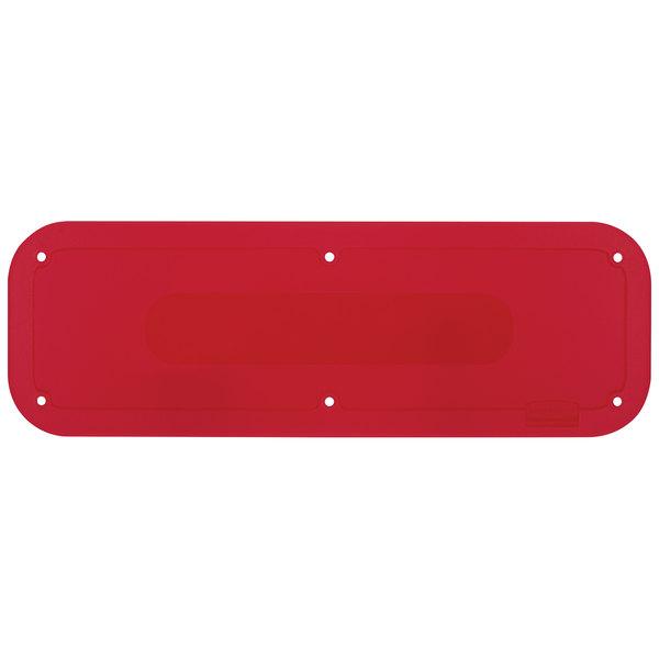 "Rubbermaid 2018385 18"" x 6"" Red Tilt Truck Placard Main Image 1"