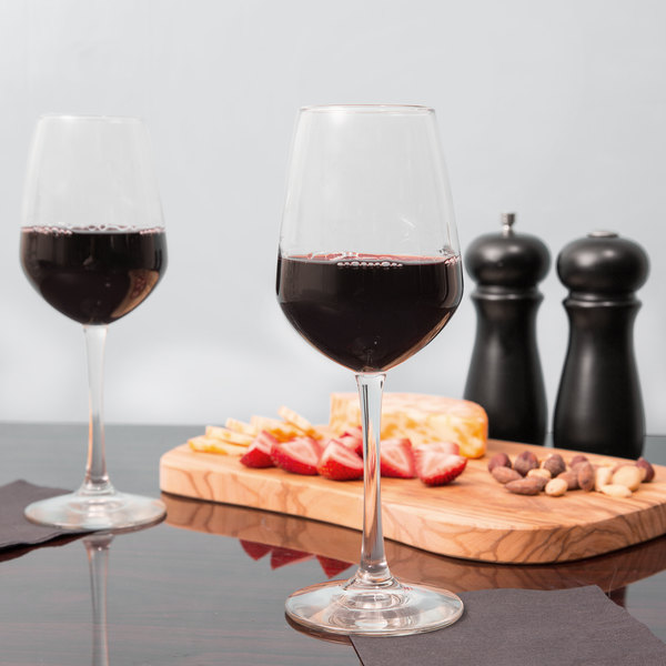 Libbey 7516 Vina 12.5 oz. Diamond Tall Wine Glass - 12/Case