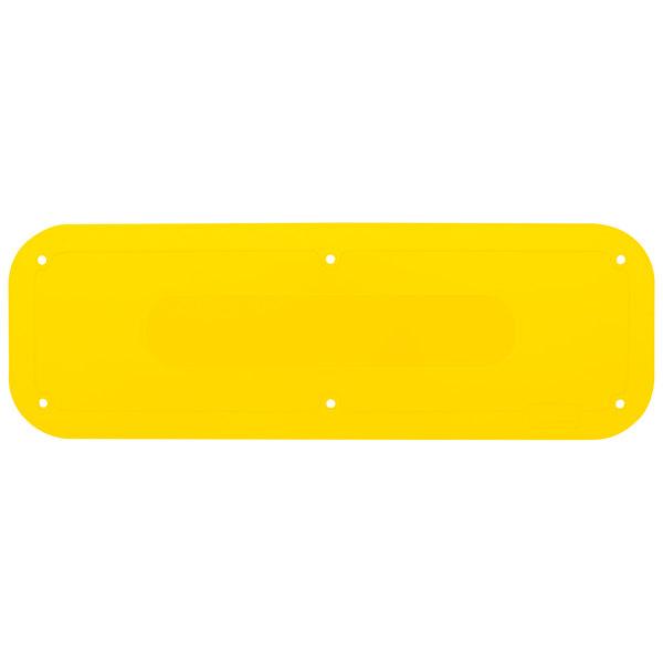 "Rubbermaid 2018386 18"" x 6"" Yellow Tilt Truck Placard Main Image 1"