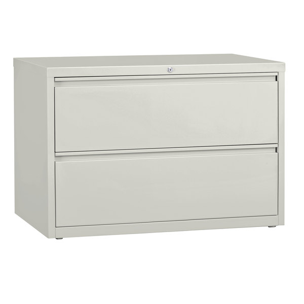 Hirsh Industries 17458 Gray Two-Drawer Lateral File Cabinet - 42 inch x 18 5/8 inch x 28 inch