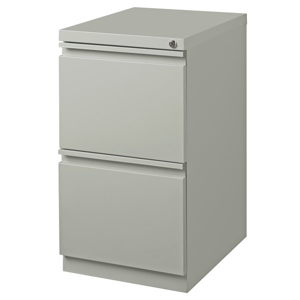 Hirsh Industries 18579 Gray Mobile Pedestal Letter File Cabinet - 15 inch x 19 7/8 inch x 27 3/4 inch
