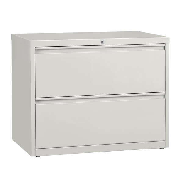 Hirsh Industries 17452 Gray Two-Drawer Lateral File Cabinet - 36 inch x 18 5/8 inch x 28 inch