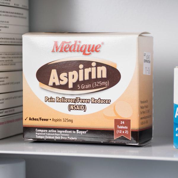 Medique 11664 Aspirin Tablets - 24/Box