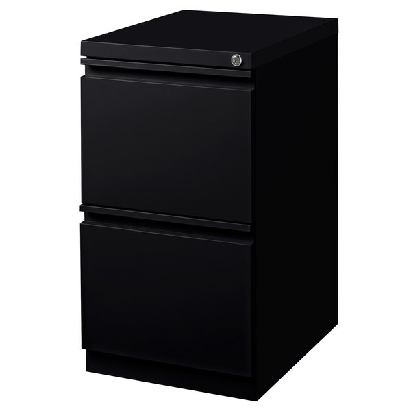Hirsh Industries 18578 Black Mobile Pedestal Letter File Cabinet - 15 inch x 19 7/8 inch x 27 3/4 inch