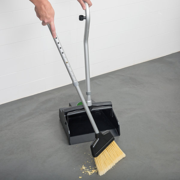 """Unger EDTBG SmartColor Ergo Angled Broom with Telescopic 36""""-46"""" Handle and Dust Pan Main Image 3"""