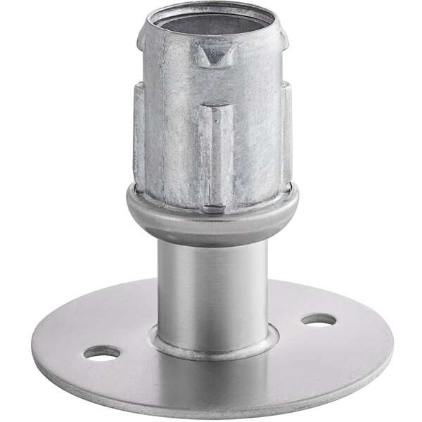 """Metro 9993HS Equivalent 3 1/2"""" Stainless Steel Foot Plate Main Image 1"""